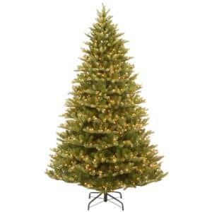 7.5 ft. Feel Real Normandy Fir Hinged Artificial Christmas Tree with 1000 Clear Lights