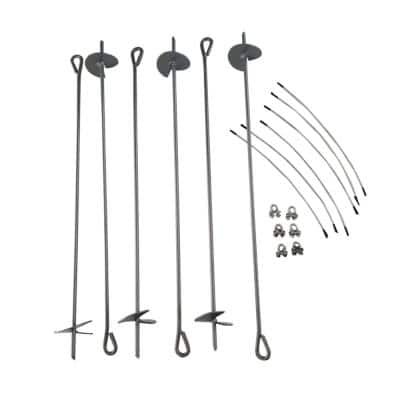 30 in. Steel Auger/Anchor Kit Pieces Set