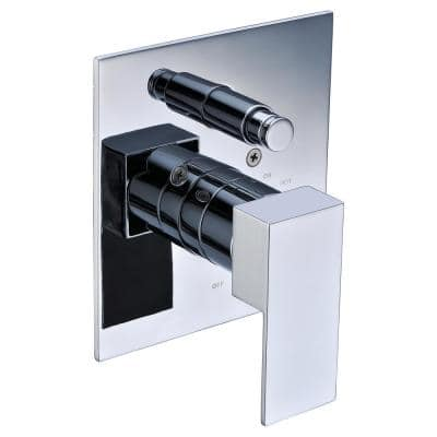 Single-Handle Shower Mixer with Sleek Modern Design in Polished Chrome