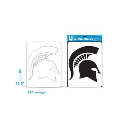 Michigan State Spartan Helmet Mini Stencil