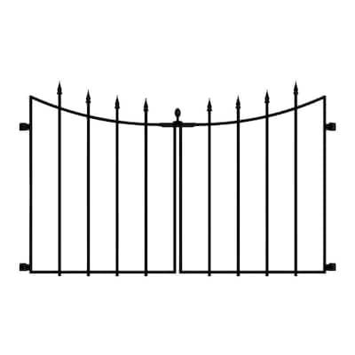 Empire/Westbrook 28 in. Black Steel Decorative Fence Gate