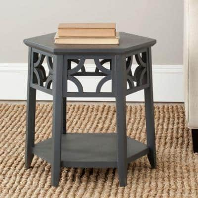 Connor Charcoal Grey End Table