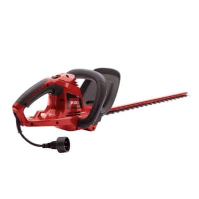 22 in. 4.0-Amp Electric Corded Hedge Trimmer, Gripped Handle with Dual Action Blades