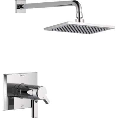 Pivotal TempAssure 1-Handle Wall-Mount Shower Trim Kit with H2Okinetic Technology in Chrome (Valve Not Included)