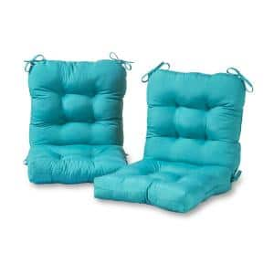 Noble House Blue Lagoon 19 In X 3 15 In Outdoor Dining Chair Cushion In Teal 68643 2 The Home Depot