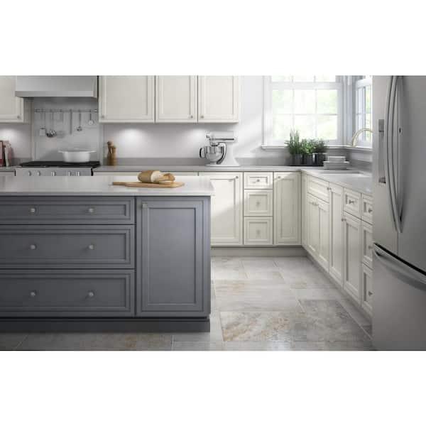32mm Satin Nickel Hollow Cabinet Knob, Home Depot Kitchen Cabinet Hardware
