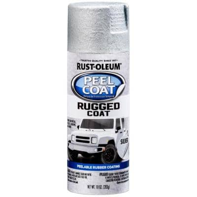 11 oz. Peel Coat Rugged Coat Silver Peelable Rubber Coating Spray Paint (6-Pack)