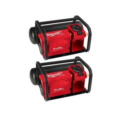 M18 FUEL 18-Volt Lithium-Ion Brushless Cordless 2 Gal. Electric Compact Quiet Compressor (2-Tool)