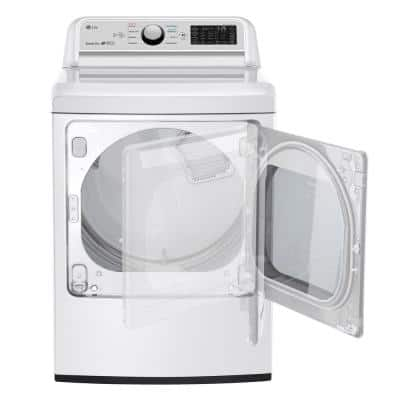 7.3 cu. ft. Ultra Large White Smart Gas Vented Dryer with EasyLoad Door & Sensor Dry, ENERGY STAR