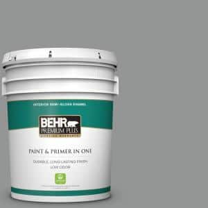 5 gal. #PPU24-19 Shark Fin Semi-Gloss Enamel Low Odor Interior Paint and Primer in One