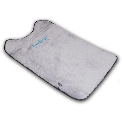 Large Black and White Lamaste Travel Reversible Designer Embroidered Pet Dog Cat Mat Bed