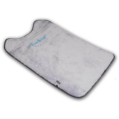 Small Black and White Lamaste Travel Reversible Designer Embroidered Pet Dog Cat Mat Bed