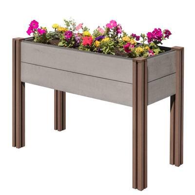 Composite Wood Plastic Elevated Raised Garden Bed