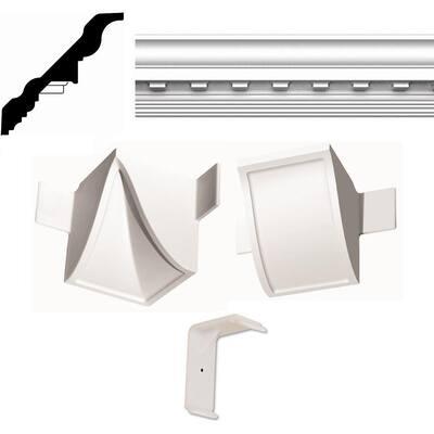 Concord Dentil QC 20 ft. x 20 ft. Crown Moulding Room Kit