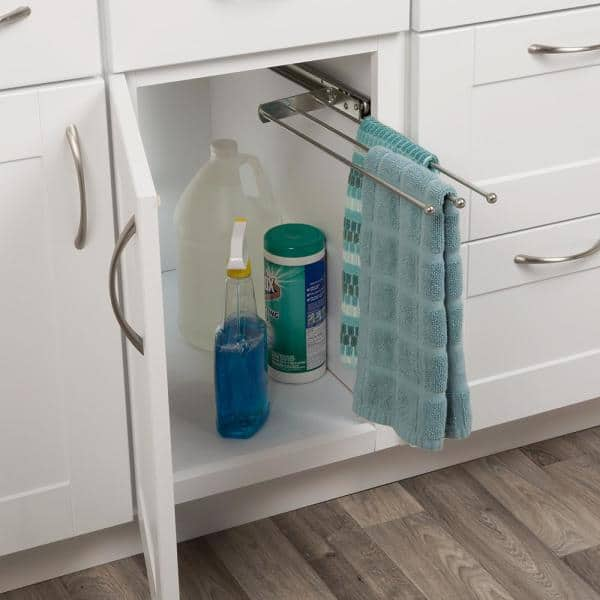 Real Solutions For Real Life Real Solutions Pull Out Kitchen Towel Holder Bar Rs P 793 Ano The Home Depot