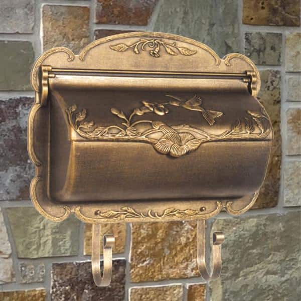 Hummingbird Bronze Wall Mount Horizontal Mailbox Shb 1004 Brz The Home Depot
