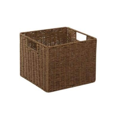 12 in. D x 10 in. H x 13 in. W Brown Paper Cube Storage Bin