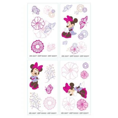 Minnie Mouse Pink and Lavender Butterfly Dreams Wall Decals (Set of 4)