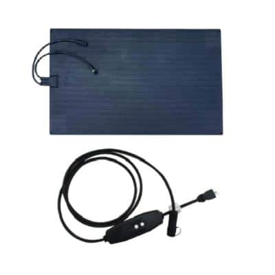 23 in. x 40 in. Blue Heated Rubber Snow Melting Mat with 10 ft. GFCI Cable