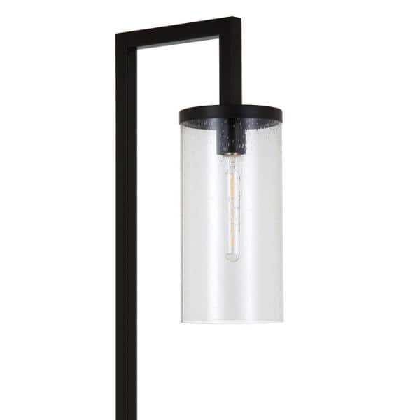 Meyer Cross Malva 26 In Blackened Bronze Table Lamp With Seeded Glass Shade Tl0137 The Home Depot