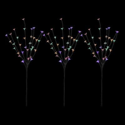 30 in. Multi-Color LED Lighted Cherry Blossom Branches (Set of 3)