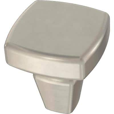 Winged 1-1/8 in. (28 mm) Satin Nickel Cabinet Knob