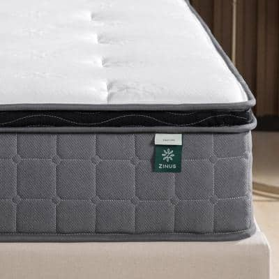 Cool Touch Comfort Gel 10 Inch Medium Euro Top King Hybrid Mattress