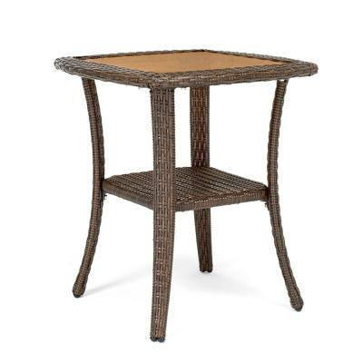 Sawyer Square Wicker Outdoor Side Table