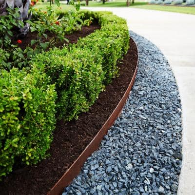 8 ft. x 14-Gauge x 4 in. Green Steel Landscape Edging