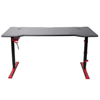 59 in. Rectangular Red Gaming Desk with 4-Port USB Hub