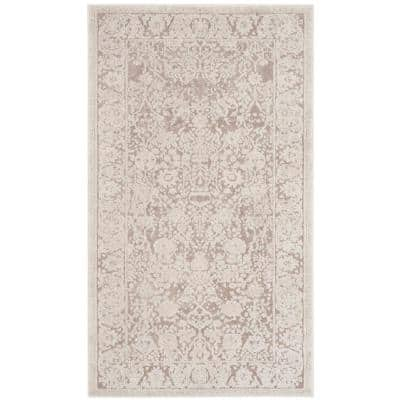 Reflection Beige/Cream 3 ft. x 5 ft. Border Distressed Area Rug