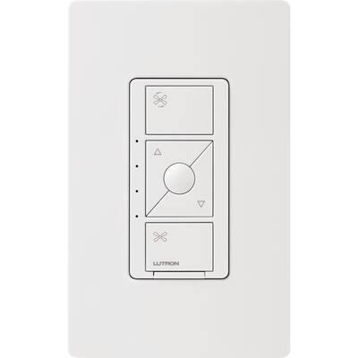 Caseta Smart Fan Speed Control, for Pull Chain Fans/Single Pole, White