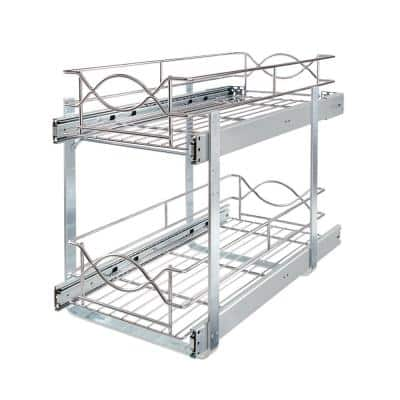 11 in. Double Tier Wire Pull Out Basket