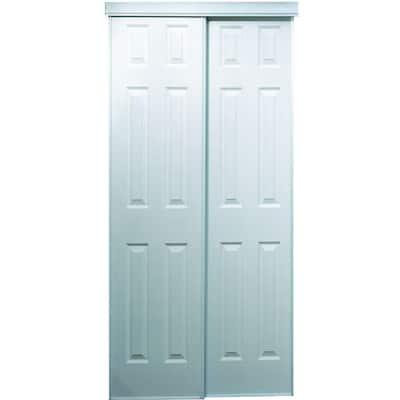 106 Series 72 in. x 80 in. White Composite Bypass Door