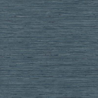 Grasscloth Blue Vinyl Peel and Stick Wallpaper Roll (Covers 28.18 sq. ft.)
