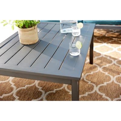 Riley Metal Outdoor Patio Coffee Table