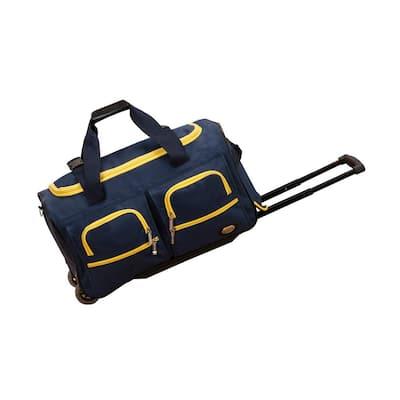 Voyage 22 in. Rolling Duffle Bag, Navy