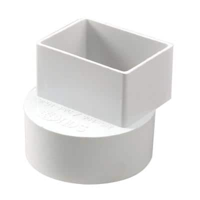 2 in. x 3 in. x 4 in. Styrene Offset Down Spout Adapter