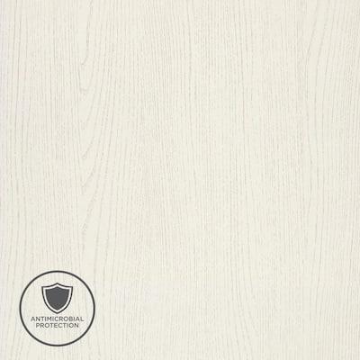 2 in. x 3 in. Laminate Sheet Sample in White Barn with Premium SoftGrain Finish