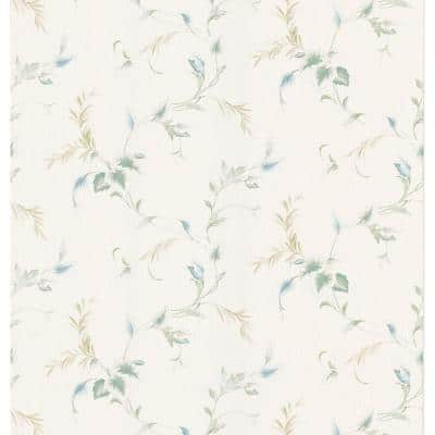 Textured Leaf Vinyl Peelable Wallpaper (Covers 56.38 sq. ft.)