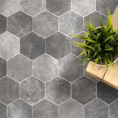 Hayes Gris 7.87 in. x 9.44 in. Matte Porcelain Floor and Wall Tile (9.84 sq. ft./Case)