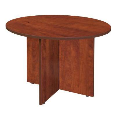 Magons Cherry 42 in. Round Conference Table