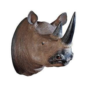 20.5 in. x 16 in. Black Rhinoceros Wall Trophy
