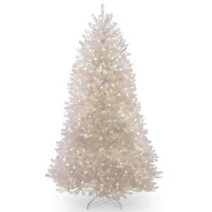 7 ft. Dunhill White Fir Tree with Clear Lights