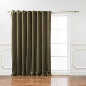 Olive Grommet Blackout Curtain - 100 in. W x 84 in. L
