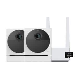 Cam Outdoor Wireless Security Camera Bundle Includes 2 Cameras, 1 Base Station, One 32 GB MSD Card
