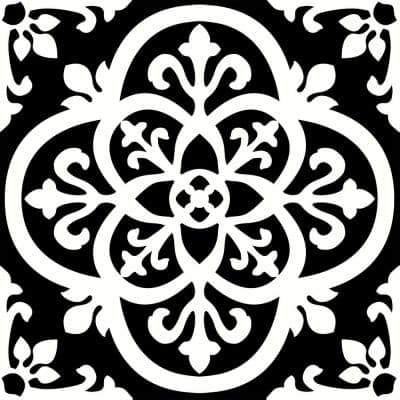 Take Home Sample - 6 in. W x 6 in. L Black Gothic Peel and Stick Vinyl Tiles