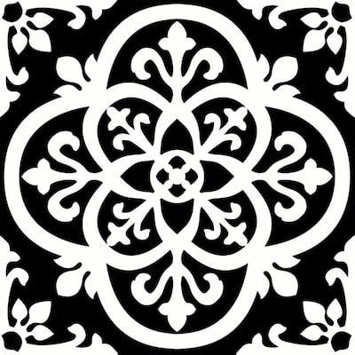 Gothic Peel and Stick Floor Tiles 12 in. x 12 in. (20 Tiles, 20 sq. ft.)