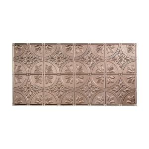 Traditional #2 2 ft. x 4 ft. Glue Up Vinyl Ceiling Tile in Brushed Nickel (40 sq. ft.)