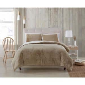 Shannon Taupe King 3-Piece Comforter Set